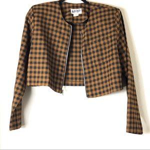 Checkered Vintage Crop Blazer!